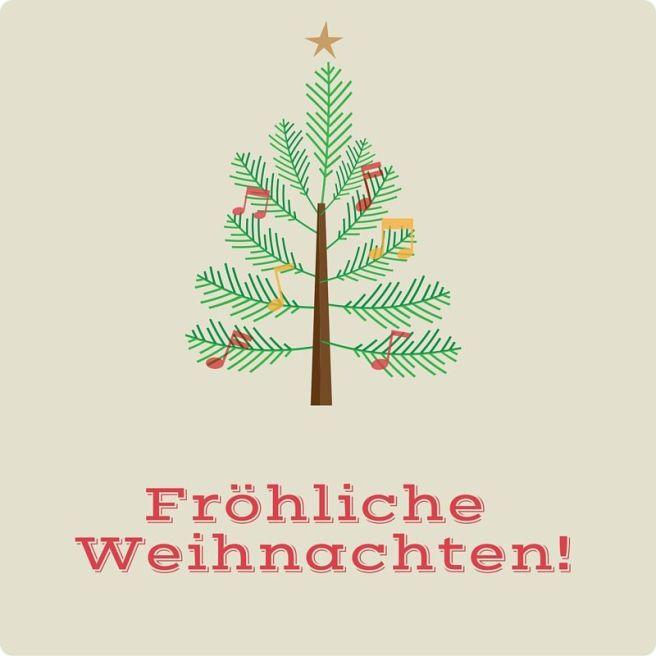 Fröhliche Weihnachten 2 rund